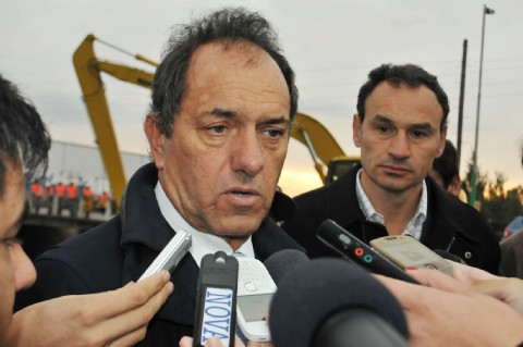 El gobernador Daniel Scioli se refirió al paro docente en Vicente López.