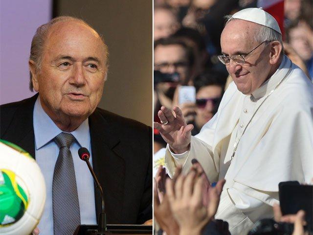 El máximo ente del Futbol y el Papa Francisco