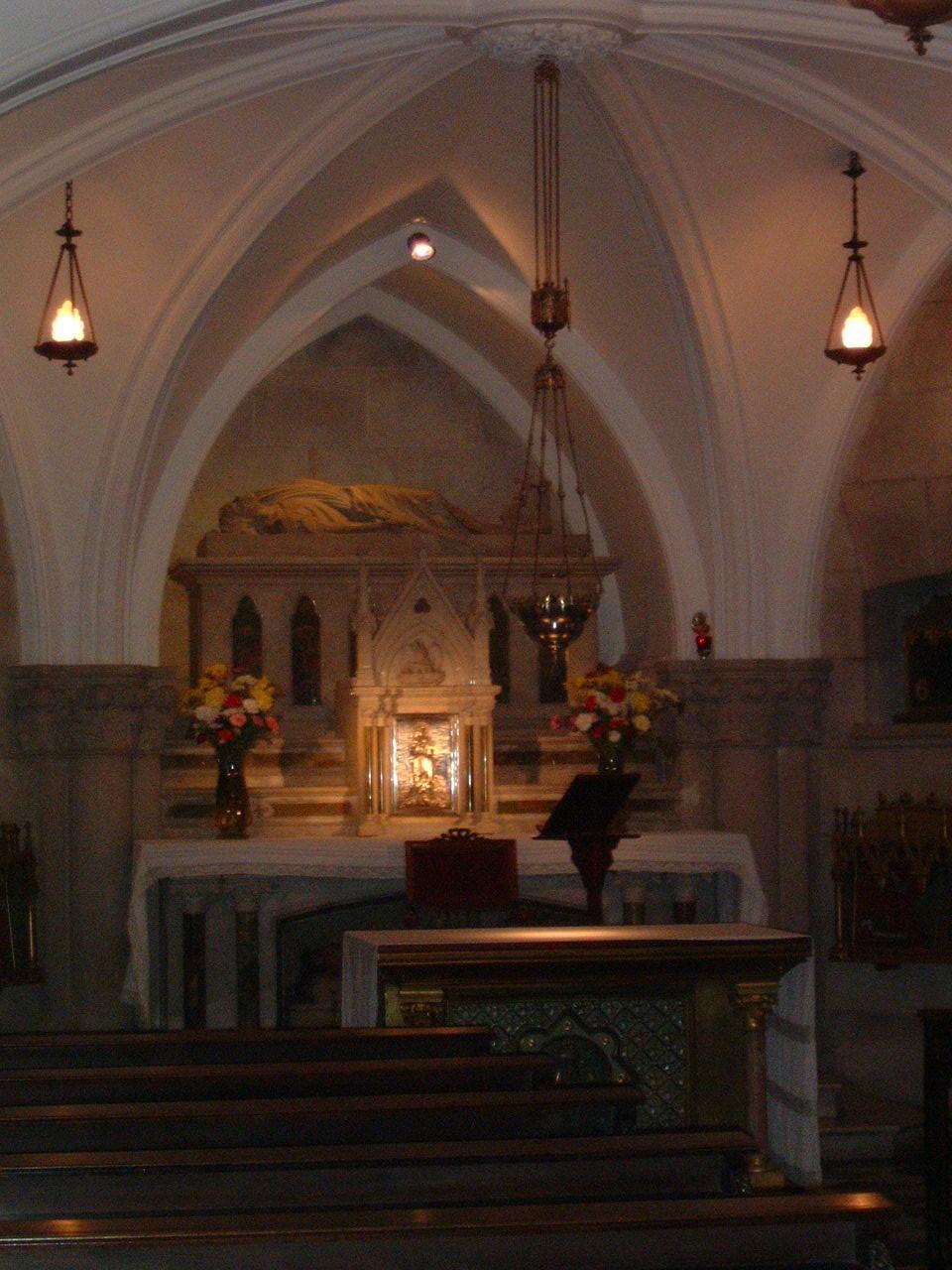 Altar que fue profanado