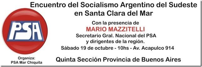 Se realizará el Encuentro Socialista en Santa Clara del Mar