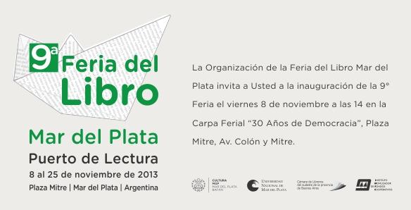 Invitacion Feria Libro 2013