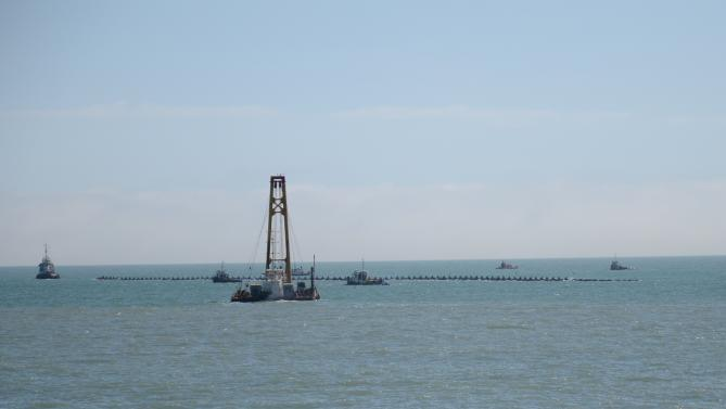 Fotos MGP - Emisario Submarino - Traslado penultimo caño 1