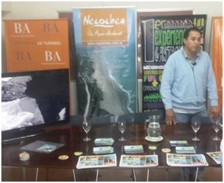 Con la Presencia del  Director General del ENTUR, Alejandro Silva, se presentó en la Oficina de Delegaciones Turísticas  la Apertura de Temporada Necochea 2013/2014