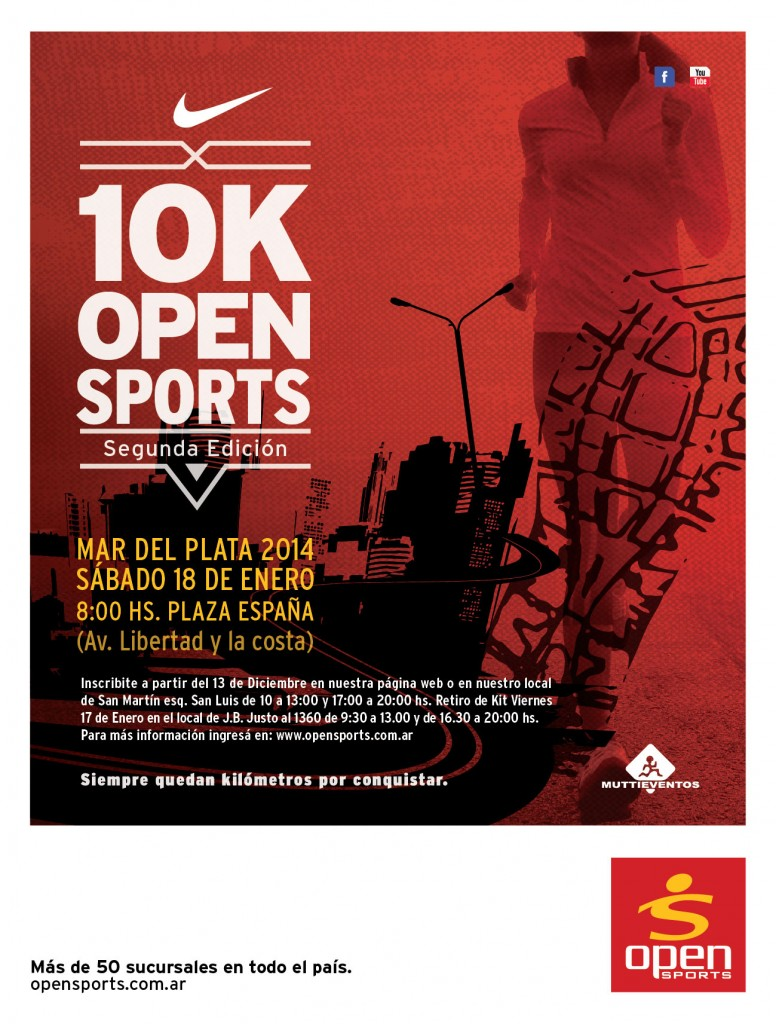 Flyer 1OK Open Sports Enero 2014