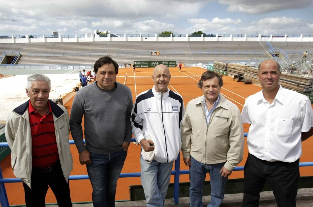 Fotos MGP - Deporte - Recorrida cancha Copa Davis