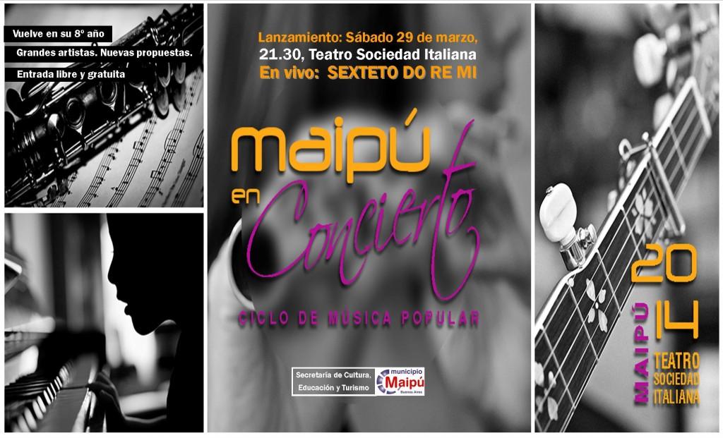 AFICHE MAIPU EN CONCIERTO Generico 29-3-2014