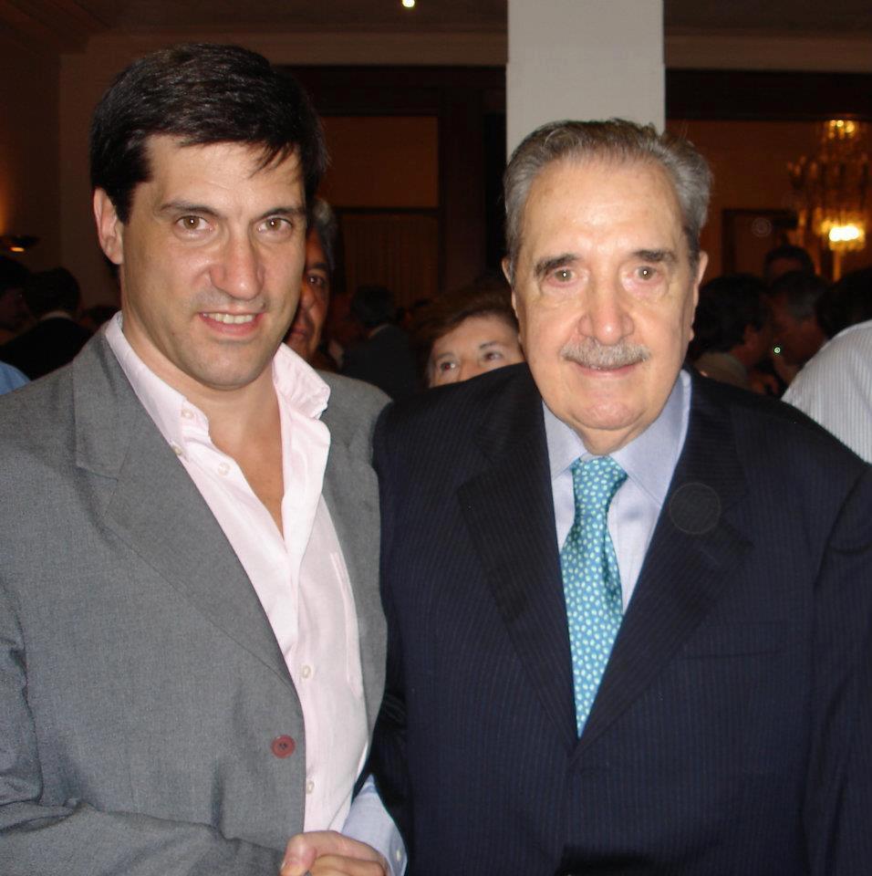 Mario Rodríguez y Raúl Alfonsín