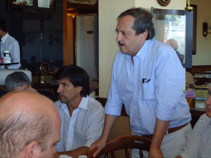 Ricardo Alfonsín y Mario Rodríguez en MdP.