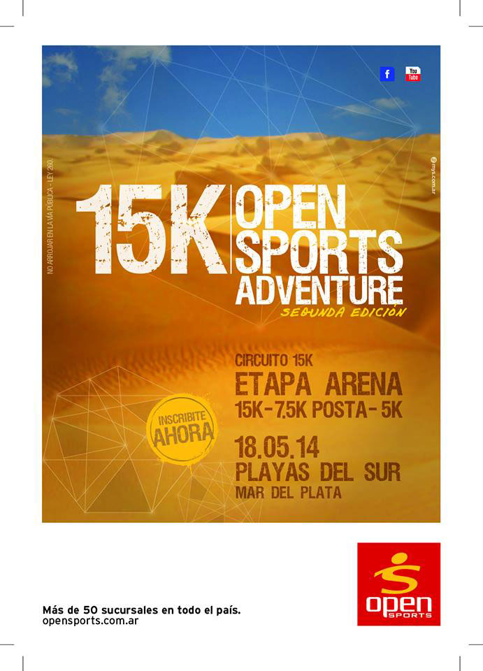 Inscripciones abiertas para los 15k Open Sports Adventure