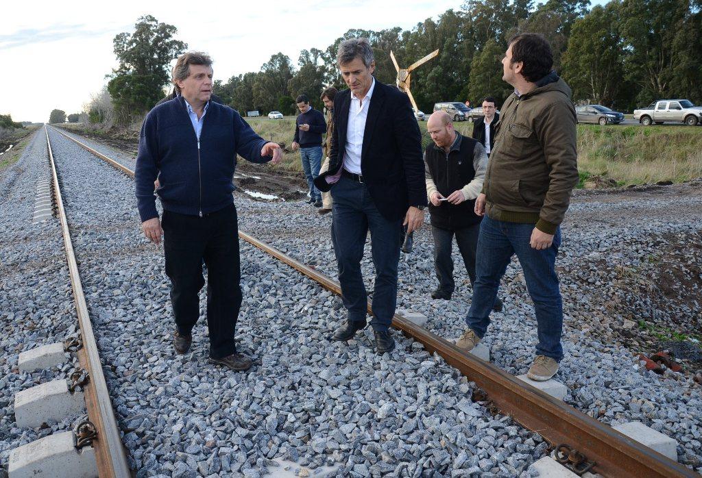 Foto MGP - Gobierno - Visita obras de nuevo tendido de vías - Pulti Frenotovich 2