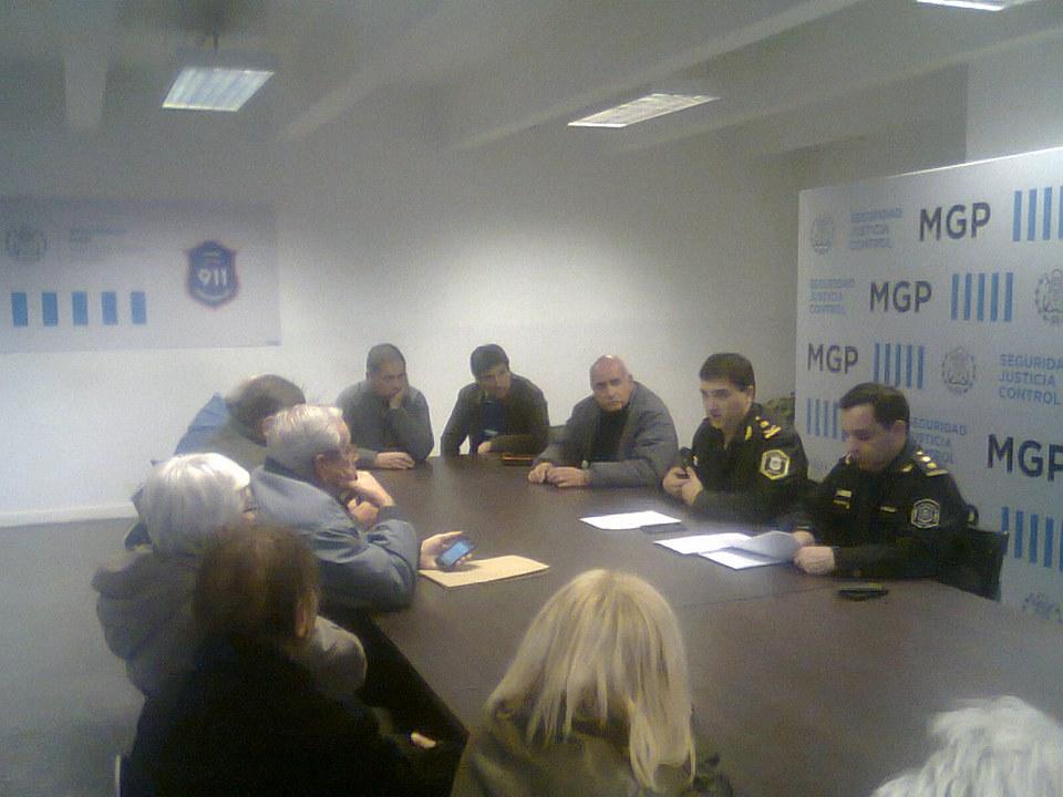 Reunión en el Comando de Patrullas