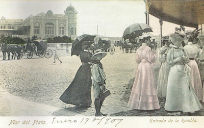 Entrada a Rambla Lasalle,1907.Coleccion Gotta