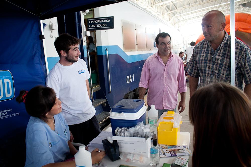 Fotos MGP - Desarrollo Social - El Tren Sanitario en Mar del Plata