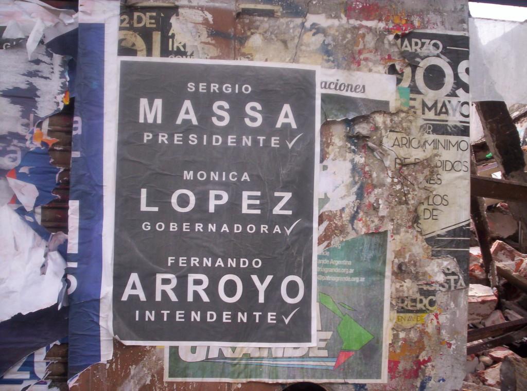 IMAGEN DE AFICHE - MASSA PRESIDENTE- LOPEZ GOBERNADORA - ARROYO INTENDENTE
