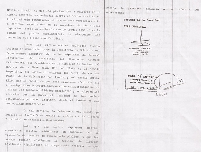 folio 3 y 4 de la denuncia penal