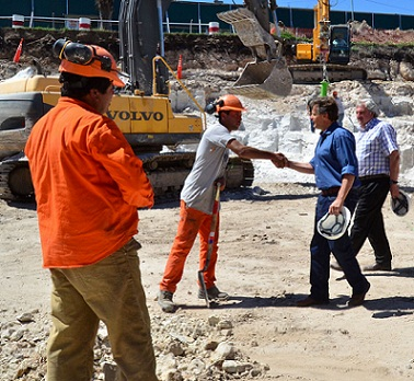 Fotos MGP - Obras Sanitarias - Recorrida obra Centro de Abastecimiento de Agua Almafuerte 1