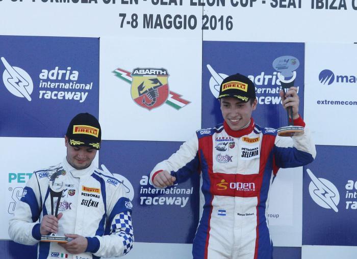 El marplatense Marco Siebert ganó en Adria y lidera el campeonato de F4 Italiana
