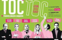 Toc Toc vuelve a Mar del Plata y se presentará en el Teatro Roxy