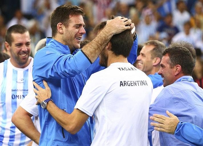 Tennis - Croatia v Argentina - Davis Cup Final - Arena Zagreb, Croatia - 27/11/16 Argentina's Juan Martin del Potro reacts . REUTERS/Antonio Bronic
