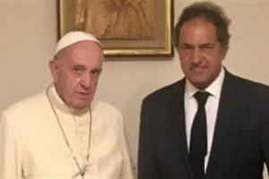 ¡El Papa recibió a Scioli!