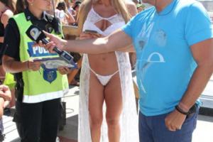 Vedette se desmayó tras ser notificada por la policía en Mar del Plata
