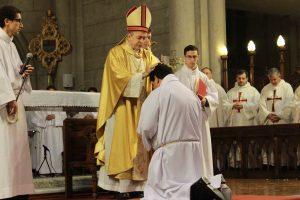 Monseñor Marino consagró a un nuevo diácono para la Iglesia Católica