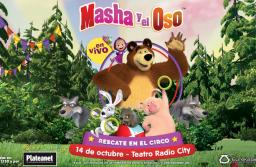 El show oficial de Masha y el Oso, llega a Mar del Plata