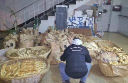 Inspección General clausuró panadería clandestina y decomisó 700 kilos de pan