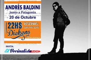 Andrés Baldini se presentará junto a Patagonia