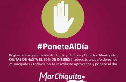 Mar Chiquita: Régimen de regularización de deudas y de Tasas y Derechos Municipales