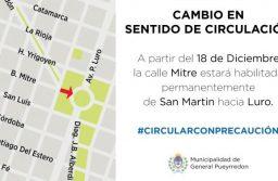 El Municipio acondiciona la calle Mitre para el cambio de sentido de circulación