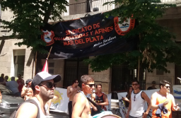 Protesta contra la derogación de la ley de Guardavidas