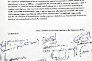 ARA San Juan: los familiares enviaron una carta a Putin para que mantenga la ayuda