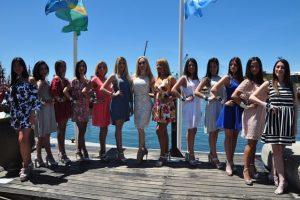 Se presentaron las finalistas a Reina Nacional de los Pescadores junto a Fátima Florez