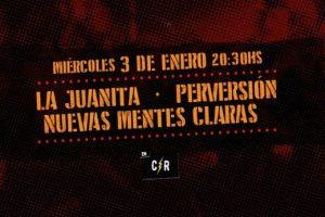 Miércoles a puro punk en Casa Rock. La Juanita, Perversión, Nuevas Mentes Claras