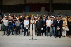 Arroyo recorrió los avances las obras de remodelación y puesta en valor del Teatro Tronador