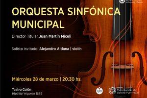 Concierto debut de Juan Martín Miceli, nuevo director de la Orquesta Sinfónica Municipal