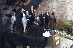 Con Duhalde, Vidal, Frigerio y Marcos Peña, el oficialismo inauguró el monumento a Alfonsín