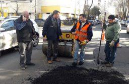 El Municipio trabaja en la reparación de calles