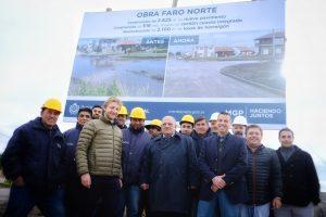 Inauguraron las obras de asfalto en Faro Norte