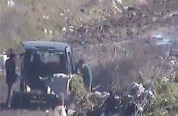 La Municipalidad infraccionó a conductores que arrojaron basura en un espacio verde