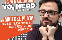 "Pablo Molinari: ""YO, NERD"" Domingo 19 Teatro Roxy – Melany"