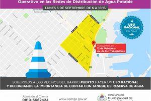 Mejoramiento operativo de redes: OSSE intervendrá en zona Puerto buscando potenciar el servicio de agua