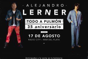 """Alejandro Lerner será reconocido como """"Visitante Notable"""" de Mar del Plata"""