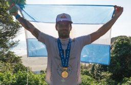 """El marplatense, Santiago Muñiz, se coronó por segunda vez en el """"Internacional Surfing Association"""""""