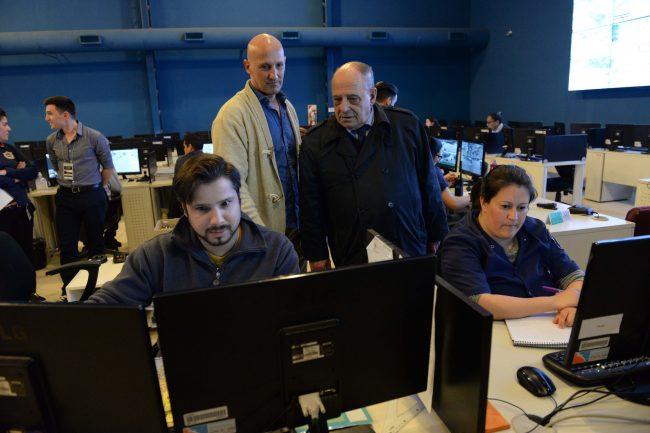 El intendente Arroyo recorrió el Centro de Operaciones y Monitoreo