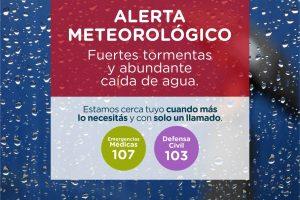 Rige alerta meteorológico por tormentas fuertes