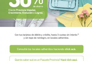 21 y 22 de Septiembre hasta 30% de ahorro en shoppings y paseos adheridos con Banco Provincia