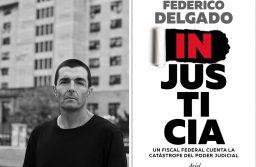 """Federico Delgado con su último libro """"Injusticia"""" en Mar del Plata"""