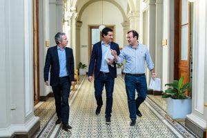 Abad y Daletto defendieron el Presupuesto de Vidal